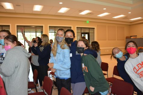 Senior Retreat was only one day, instead of two, because of increased COVID-19 precautions.