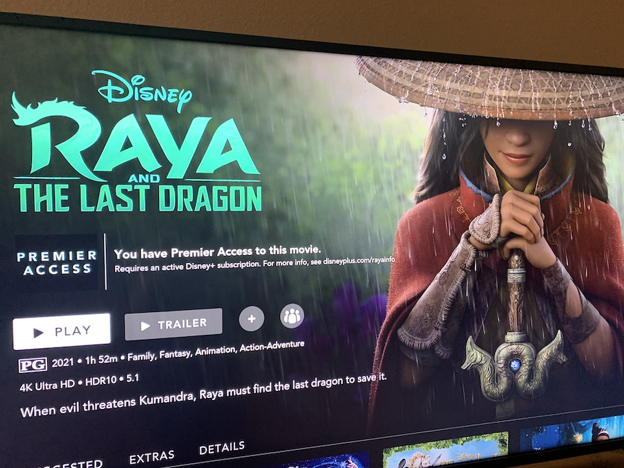 """Raya and the Last Dragon"" is the first Disney animated movie made from home due to the COVID-19 pandemic, as less than one month of production occurred in person."