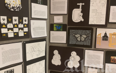 Students display their recent artwork for the Vernal Art Show, which will be held on April 22, 2021.