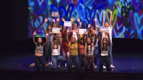 The cast of, One Singular Sensation-A Salute to the American Musical.