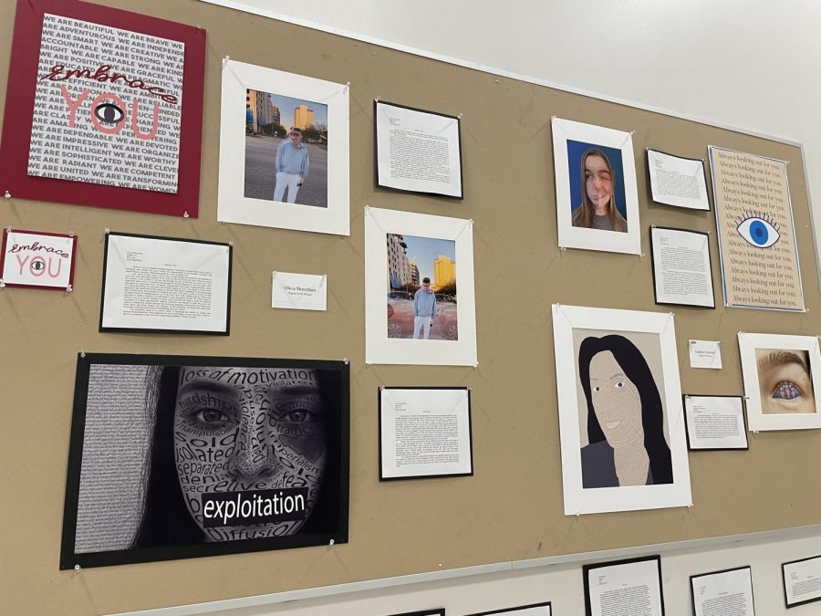 The gallery featured a range of artworks from more traditional styles, such as painting, to more modern techniques including digital photography and editing. Brynn Wilary ('23) said,