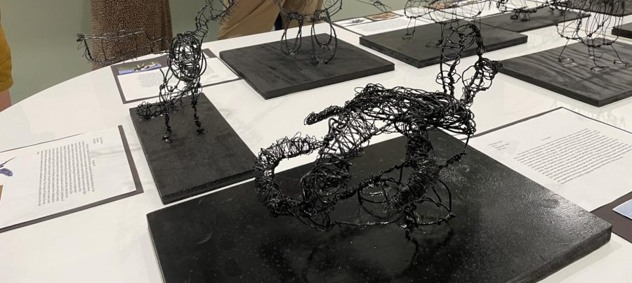 The 3D art also ranged in mediums, ranging from clay to wire sculptures.