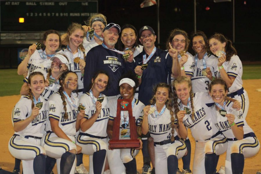 The AHN softball team is now state champs.