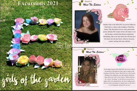 Editors of Excursion magazine, Amelia Cuttle and Jayse Angel are both seniors that graduated in 2021.