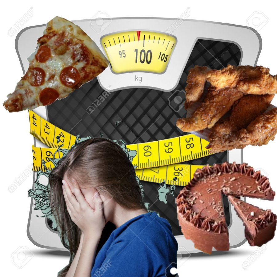 Unhealthy eating stresses students.