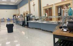 Sage Dining, a large factor in unhealthy eating at Academy, sets up before lunchtime.