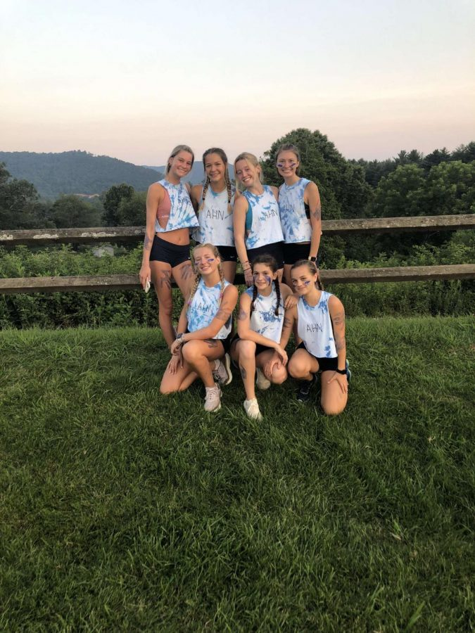 The cross country team attended a camp together over the summer.