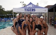 This was the first time Ive ever competed in a meet. I honestly was so nervous, but Im happy with the way I swam. I also enjoyed bonding with my teammates, says Sadie Campbell (22).