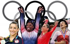 Four former U.S. gymnasts who testified before the Senate; left to right: Aly Raisman, Simone Biles, McKayla Maroney, and Maggie Nichols.
