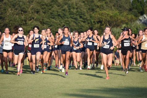 The Cross Country team competes at the second annual Private School Championship.