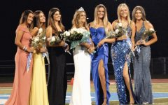 Last years court, in the middle is Samantha Donofrio (A21), who was chosen as queen.