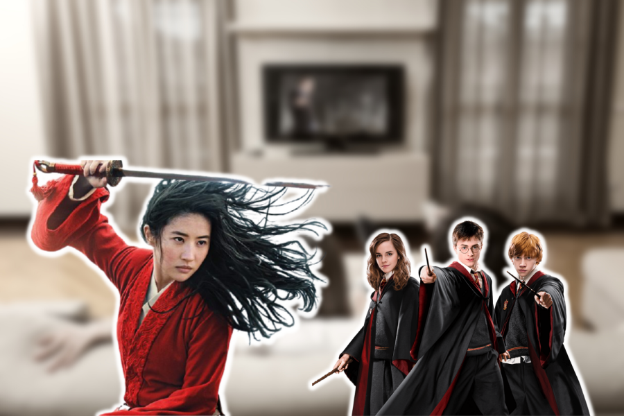 Films including Harry Potter, and remakes such as Mulan (2020), illustrate the focus on nostalgia in films.